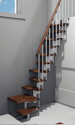 Construcentro escaleras for Escaleras en poco espacio